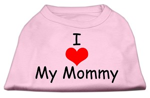 I Love My Mommy Screen Print Shirts Pink Lg (14)